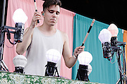 Photos of the band Purity Ring performing for Celebrate Brooklyn! at Prospect Park Bandshell in Brooklyn, NYC. July 10, 2012. Copyright © 2012 Matthew Eisman. All Rights Reserved.