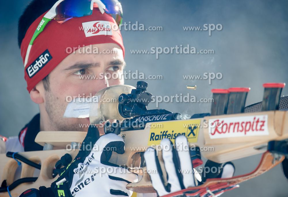 26.01.2013, Biathlonzentrum, Obertilliach AUT, IBU, Jugend und Junioren Weltmeisterschaften, Sprint Junioren Maenner, im Bild Thomas Haumer (AUT) // Thomas Haumer from Austria during the Junior Men Sprint of IBU Youth  and Juniors World Championships at Biathloncenter, Obertilliach, Austria on 2013/01/26 . EXPA Pictures © 2013, PhotoCredit: EXPA/ Michael Gruber