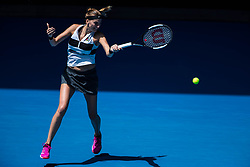 January 20, 2019 - Melbourne, VIC, U.S. - MELBOURNE, VIC - JANUARY 20: PETRA KVITOVA (CZE) during day seven match of the 2019 Australian Open on January 20, 2019 at Melbourne Park Tennis Centre Melbourne, Australia (Photo by Chaz Niell/Icon Sportswire) (Credit Image: © Chaz Niell/Icon SMI via ZUMA Press)