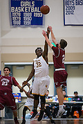 Mission Bears forward U'jah Pratt (32) attempts to block a shot during the Fukushima Invitational at Independence High School in San Jose, Calif., on December 7, 2016. (Stan Olszewski/Special to S.F. Examiner)