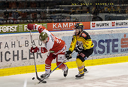 21.03.2017, Eiswelle, Bozen, ITA, EBEL, HCB Suedtirol Alperia vs UPC Vienna Capitals, Playoff, Halbfinale, 4. Spiel, im Bild Jesse Root (HCB Suedtirol), Taylor Vause (Vienna Capitals) // during the Erste Bank Icehockey League, playoff semifinal 4th match between HCB Suedtirol Alperia and UPC Vienna Capitals at the Eiswelle in Bozen, Italy on 2017/03/21. EXPA Pictures © 2017, PhotoCredit: EXPA/ Johann Groder