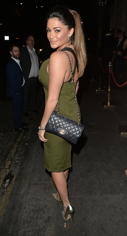 Model Casey Batchelor arriving at the Steam &amp; Rye bar in London, uK. 14/04/2016<br />