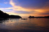 Sunset in Loh Dalam Bay.