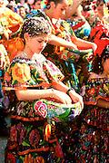 MEXICO, CHIAPAS, FESTIVALS Fiesta de Enero street procession