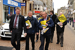 Willie Rennie, Dunfermline, 29-4-2016<br /> <br /> Tim Farron and Willie Rennie meet voters in Dunfermline with James Calder<br /> <br /> (c) David Wardle | Edinburgh Elite media