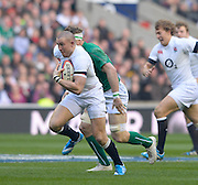 Twickenham Great Britain.  Mike Brown on the breakaway, during the 2014 RBS Six Nations Rugby; England vs Ireland. Saturday  22/02/2014  [Mandatory Credit; Peter Spurrier/Intersport-images]
