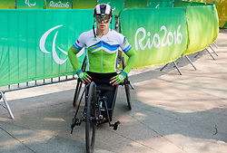 Primoz Jeralic of Slovenia during Men's Time Trial H5 of Cycling Road competition during Day 7 of the Rio 2016 Summer Paralympics Games on September 14, 2016 in Olympic Aquatics Stadium, Rio de Janeiro, Brazil. Photo by Vid Ponikvar / Sportida