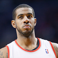 06 December 2013: Portland Trail Blazers power forward LaMarcus Aldridge (12) is seen during the Portland Trail Blazers 130-98 victory over the Utah Jazz at the Moda Center, Portland, Oregon, USA.