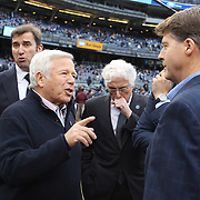 New England Patriots owner Robert Kraft (left), on the sideline with NYCFC officials before the New York City FC v New England Revolution, inaugural MSL football match at Yankee Stadium, The Bronx, New York,  USA. 15th March 2015. Photo Tim Clayton