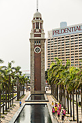 Former Kowloon-Canton Railroad Clock Tower in Tsim Sha Tsui Kowloon, Hong Kong.