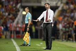 October 6, 2017 - Alicante, Spain - Christian Panucci during the qualifying match for the World Cup Russia 2018 between Spain and Albaniaat the Jose Rico Perez stadium in Alicante, Spain on October 6, 2017. (Credit Image: © Jose Breton/NurPhoto via ZUMA Press)