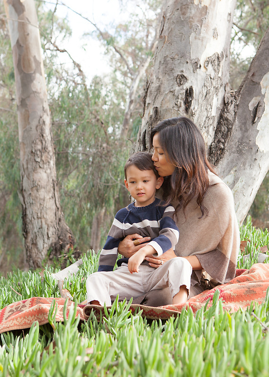 Mother and Son in Gum Grove Park
