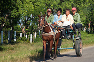 Horse and cart near Sabalo, Pinar del Rio, Cuba.