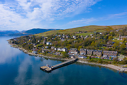 View of Kilcreggan village in Argyll and Bute, Scotland, UK