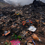 Rubbish and waste at a landfill site in Thailand