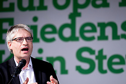 May 23, 2019 - Hannover, Niedersachsen, Germany - Hanover, Germany - May 23: Sven Giegold, Member of the European Parliament (MEP) and top candidate of the german party Alliance 90/The Greens for the upcoming European elections, speaks at a party meeting on May 23, 2019 in Hanover. (Credit Image: © Peter Niedung/NurPhoto via ZUMA Press)