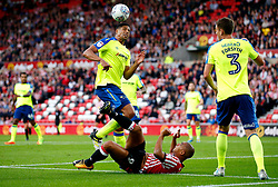 Curtis Davies of Derby County clears the ball above James Vaughan of Sunderland - Mandatory by-line: Matt McNulty/JMP - 04/08/2017 - FOOTBALL - Stadium of Light - Sunderland, England - Sunderland v Derby County - Sky Bet Championship