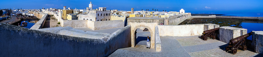 Panorama of El Jadida, previously known as Mazagan, is a port city on the Atlantic coast of Morocco.