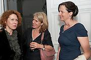 ANN MACGREGOR; PENNY JOHNSON; MARGOT HELLE, MCA Sydney cocktails. Brandon rooms. ICA. London. 11 October 2011. <br /> <br />  , -DO NOT ARCHIVE-© Copyright Photograph by Dafydd Jones. 248 Clapham Rd. London SW9 0PZ. Tel 0207 820 0771. www.dafjones.com.