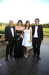 Left to right, PAUL & JANE BARRY, LETITIA BARRY and JONATHAN BARRY at the annual Ham Polo Club Summer Ball held at the club, Petersham Road, Richmond, Surrey on 25th July 2008.<br /> <br /> NON EXCLUSIVE - WORLD RIGHTS