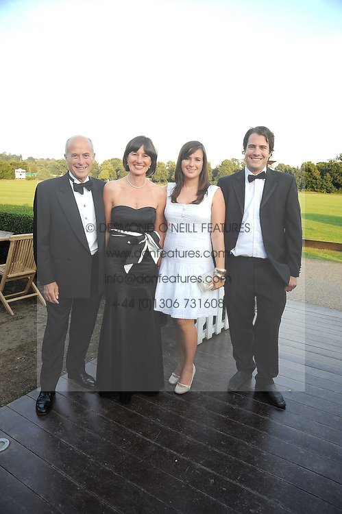 Left to right, PAUL &amp; JANE BARRY, LETITIA BARRY and JONATHAN BARRY at the annual Ham Polo Club Summer Ball held at the club, Petersham Road, Richmond, Surrey on 25th July 2008.<br /> <br /> NON EXCLUSIVE - WORLD RIGHTS