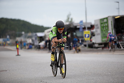 Sheyla Gutierrez Ruiz (ESP) of Cylance Pro Cycling digs deep during the prologue of the Ladies Tour of Norway - a 3.4 km time trial, starting and finishing in Halden on August 17, 2017, in Ostfold, Norway. (Photo by Balint Hamvas/Velofocus.com)