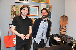 Left to right, FIONNAN HONAN and JACK GUINNESS at the opening of the new Jack Spade store at 83 Brewer street, London on 29th March 2012.