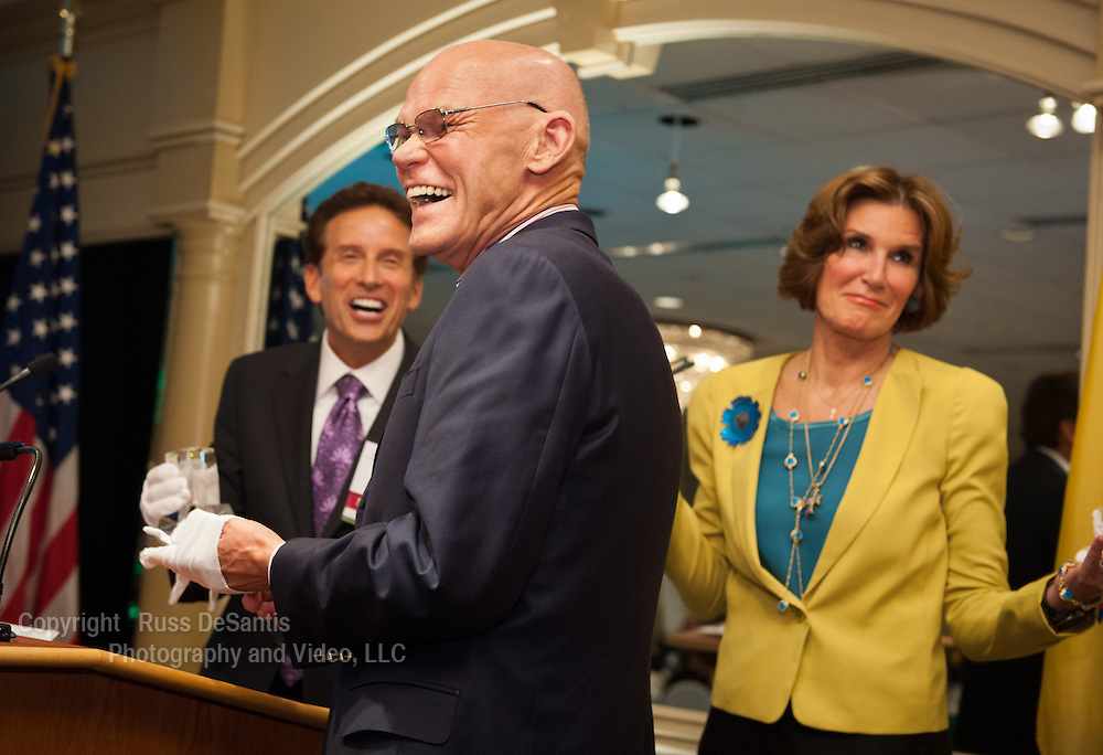 Political advisors James Carville, a Democrat, and his wife Mary Matalin, a Republican, were the guest speakers at a forum sponsored by the NJ Chamber of Commerce at the Pines Manor in Edison, NJ. / Photo by Russ DeSantis Photographay and Video, LLC