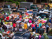 11 OCTOBER 2016 - UBUD, BALI, INDONESIA: The morning market in Ubud is for produce and meat and serves local people from about 4:30 AM until about 7:30 AM. As the morning progresses the local vendors pack up and leave and vendors selling tourist curios move in. By about 8:30 AM the market is mostly a tourist market selling curios to tourists. Ubud is Bali's art and cultural center.      PHOTO BY JACK KURTZ