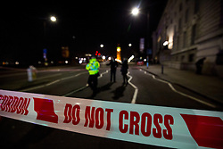 © Licensed to London News Pictures. 19/01/2017. London, UK. An area of central London has been closed due to the discovery of a World War Two bomb in river Thames. Photo credit : Tom Nicholson/LNP