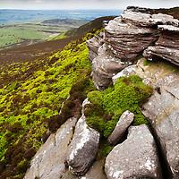 Dove Crag in the Simonside Hills near Rothbury Northumberland England