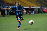 Inter's Italian midfielder Nicolo Barella crosses the ball during the Serie A match at Stadio Ennio Tardini, Parma. Picture date: 28th June 2020. Picture credit should read: Jonathan Moscrop/Sportimage