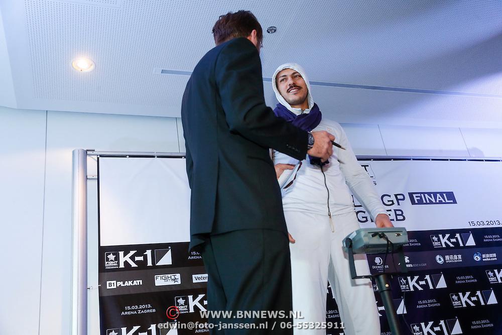 CRO/Zagreb/20130314- K1 WGP Final Zagreb, weging vd deelnemers, Zabit Samedov