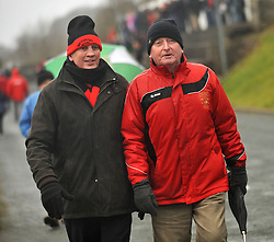 Frank Dolan and Peter Flynn at the Sportspark Westport for the FAI junior Cup Match.<br /> Pic Conor McKeown