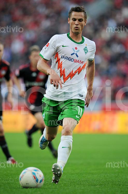 FUSSBALL   1. BUNDESLIGA   SAISON 2011/2012    2. SPIELTAG Bayer 04 Leverkusen - SV Werder Bremen              14.08.2011 Markus ROSENBERG (SV Werder Bremen) Einzelaktion am Ball