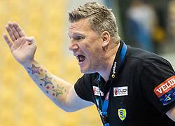 Nikolaj Jacobsen, head coach of RNL during handball match between RK Celje Pivovarna Lasko (SLO) and Rhein-Neckar Loewen (GER) in Round 6 of EHF Champions League 2014/15, on November 23, 2014 in Arena Zlatorog, Celje, Slovenia. Photo by Vid Ponikvar / Sportida