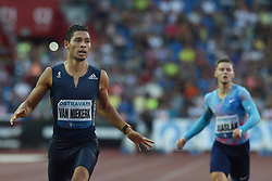 June 28, 2017 - Ostrava, Czech Republic - South African sprinter Wayde van Niekerk (left) and Czech sprinter Pavel Maslak) compete in the 300 metres race during the Golden Spike Ostrava athletic meeting in Ostrava, Czech Republic, on June 28, 2017. (Credit Image: © Jaroslav Ozana/CTK via ZUMA Press)