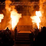 CRO/Zagreb/20130315- K1 WGP Finale Zagreb, publiek kijkt naar het vuurwerk