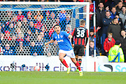 Goal - Portsmouth's Gary Roberts celebrates open the scoring during the The FA Cup fourth round match between Portsmouth and Bournemouth at Fratton Park, Portsmouth, England on 30 January 2016. Photo by Graham Hunt.