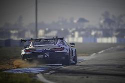 March 16, 2018 - Sebring, USA - 24 BMW TEAM RLL (USA) BMW M8 GTLM BMW GTLM JESSE KROHN (FIN) JOHN EDWARDS (USA) NICKY CATSBURG  (Credit Image: © Panoramic via ZUMA Press)