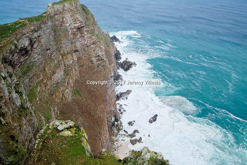 View of the cliff over Cape Point in South Africa.