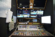 TV broadcast production by Multiproduction during handball match on October 12, 2014 in Kielce Poland<br /> <br /> Picture also available in RAW (NEF) or TIFF format on special request.<br /> <br /> For editorial use only. Any commercial or promotional use requires permission.<br /> <br /> Mandatory credit:<br /> Photo by &copy; Adam Nurkiewicz / Mediasport