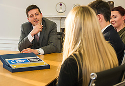 Pictured: Jamie Hepburn<br /> <br /> Employability and training minister Jamie Hepburn MSP, visited Grant Property in Edinburgh today to announce the latest labour market statistics and to award the company the 350th Investors in Young People award. <br /> <br /> Ger Harley | EEm 14 December 2016