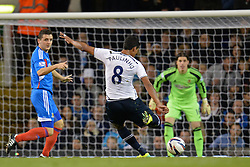 Tottenham's Paulinho takes a shot at goal - Photo mandatory by-line: Mitchell Gunn/JMP - Tel: Mobile: 07966 386802 30/10/2013 - SPORT - FOOTBALL - White Hart Lane - London - Tottenham Hotspur v Hull City - Capital One Cup - Forth Round