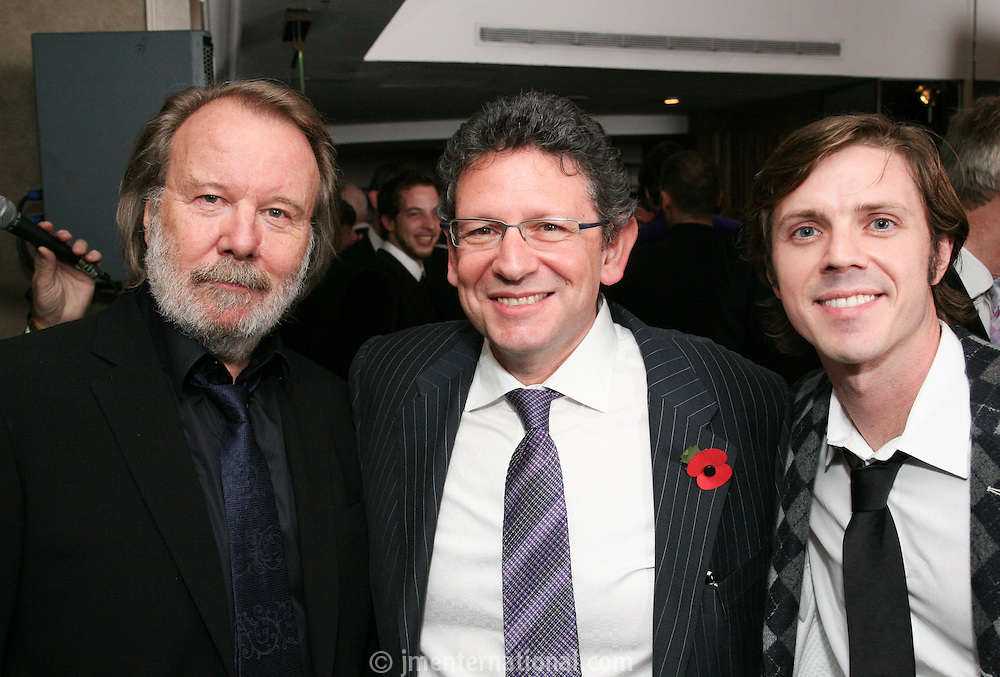 Benny Andersson (Abba), Lucian Grainge and Jake Shears (scissor sisters)