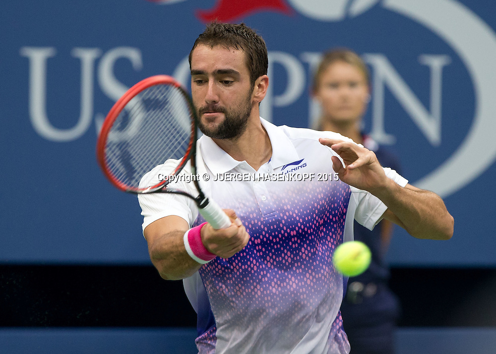 Marin Cilic (CRO)<br /> <br /> Tennis - US Open 2015 - Grand Slam ITF / ATP / WTA -  Flushing Meadows - New York - New York - USA  - 11 September 2015.
