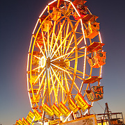 Hot, August, evening at the Fair.