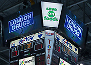 KELOWNA, CANADA - OCTOBER 28:  London Drugs at the Kelowna Rockets game on October 28, 2017 at Prospera Place in Kelowna, British Columbia, Canada.  (Photo By Cindy Rogers/Nyasa Photography,  *** Local Caption ***