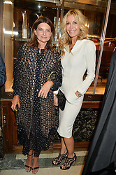 Left to right, NATALIE MASSENET and MELISSA ODABASH at the LDNY Fashion Show and WIE Award Gala sponsored by Maserati held at The Goldsmith's Hall, Foster Lane, City of London on 27th April 2015.