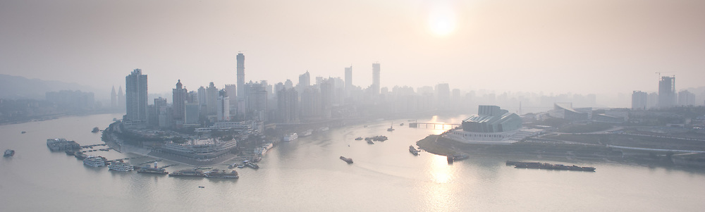 "Chongqing - January 7, 2011: embraced by the Yangtze and Jialing rivers that make his position so strategic, the city is also known as ""Fog City"" with an average of 68 days of fog a year."